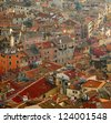 Roofs of old European town - stock photo