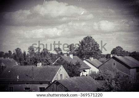roofs of old photo
