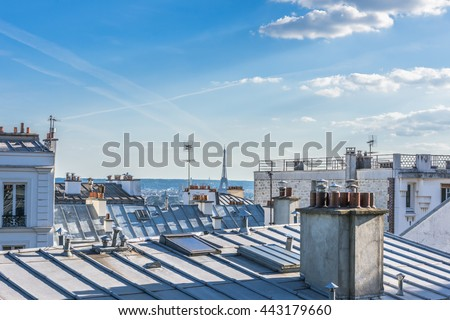Roofs of Paris.