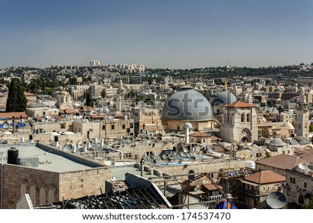 Roofs of the Old City, Jerusalem