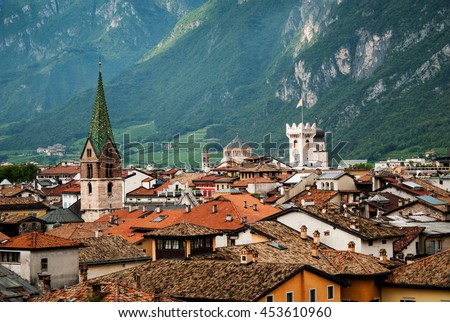 Roofs of Trento, Italy