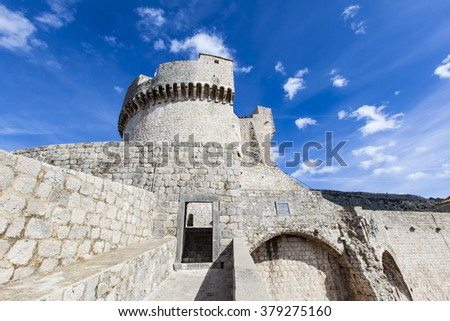 Roofs View on Dubrovnik Old Town, Croatia. - stock photo