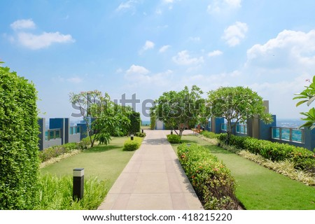 Residential Rooftop Gardens rooftop garden stock images, royalty-free images & vectors