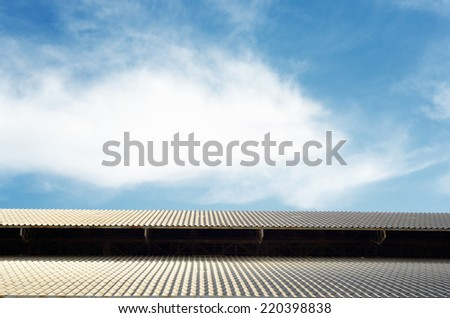 Rooftop of factory against blue sky / Rooftop of factory  - stock photo