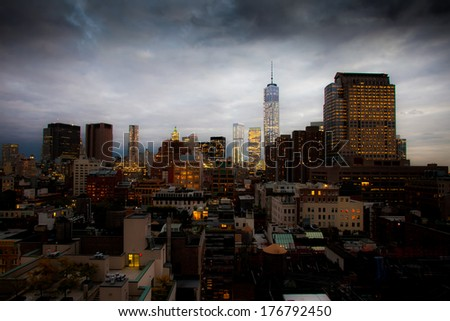 Rooftop View - stock photo