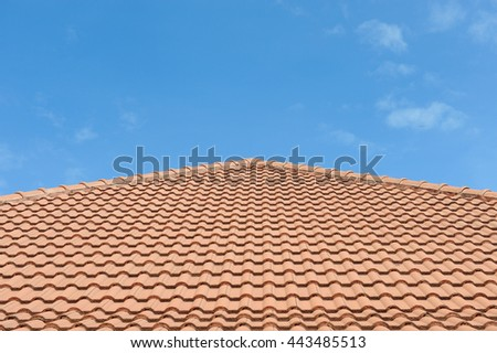 rooftop with the blue sky