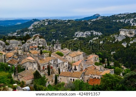 Rooftops of Baux-de-Provence, south of France