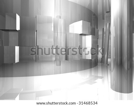Room illustration with shine and glossy effects.