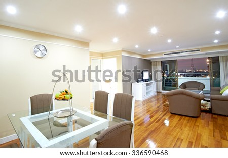 room in town - stock photo