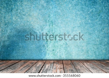 room interior vintage with wood floor background