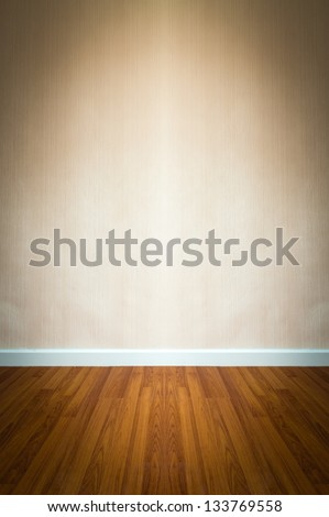 room interior with brown wallpaper - stock photo
