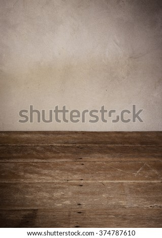 room interior with concrete  wall use for background - stock photo