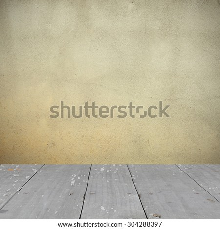 room interior with grunge wall