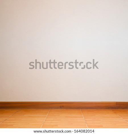 room interior with white wall - stock photo