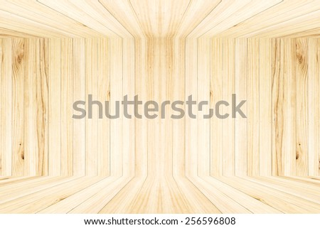 Room of Wood plank brown texture background. - stock photo