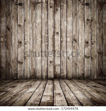 Room. The brown wood texture with natural patterns background - stock photo
