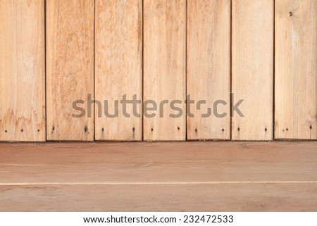 Room. The brown wood texture with natural patterns background old panels. interior
