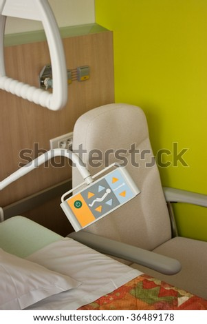 Room with bed in hospital - stock photo