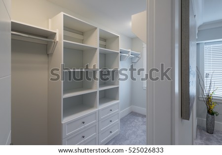 Superb Room With The Open Empty Closet, Working Closet, Cupboard With Some Racks,  Hangers