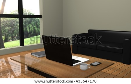 room work 3D rendering