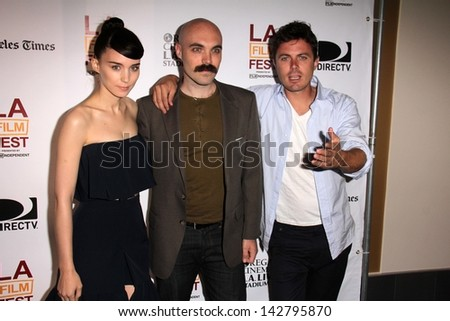 "Rooney Mara, David Lowery and Casey Affleck at the ""Ain't Them Bodies Saints"" Special Screening as part of the Los Angeles Film Festival, Regal Cinemas, Los Angeles, CA 06-15-13"