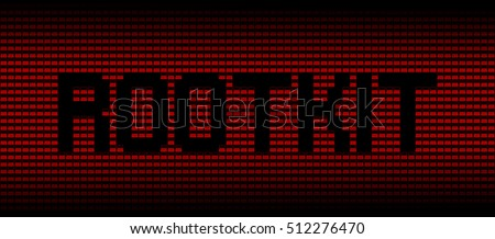 Rootkit text on red laptops background illustration