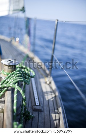 Rope and sea - stock photo