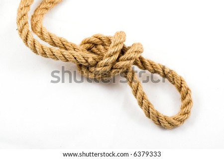 Rope as metaphor - stock photo
