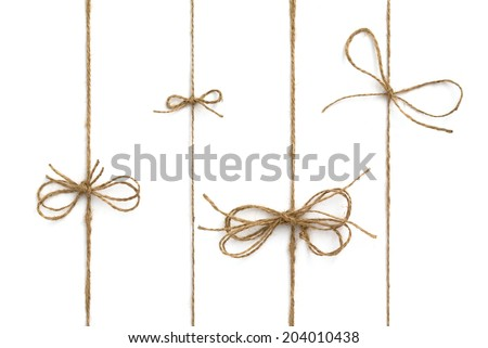 Rope bow  - stock photo
