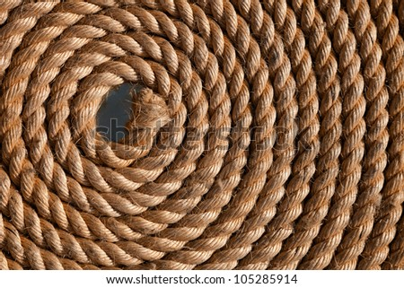 Rope folded helix. Can be used as background - stock photo
