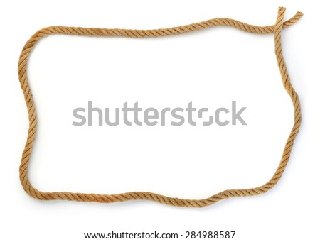 Rope frame stock images royalty free images vectors Rope photo frame