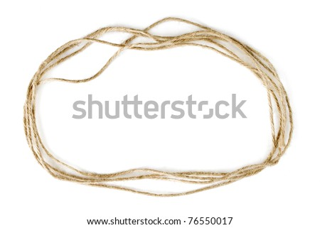 Rope frame isolated on white background