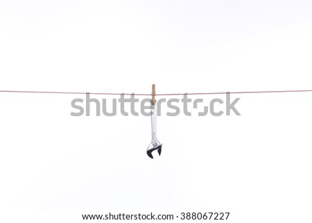 rope hanging spanner