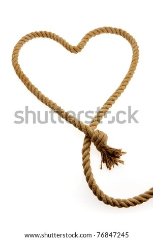 rope heart-shaped - stock photo