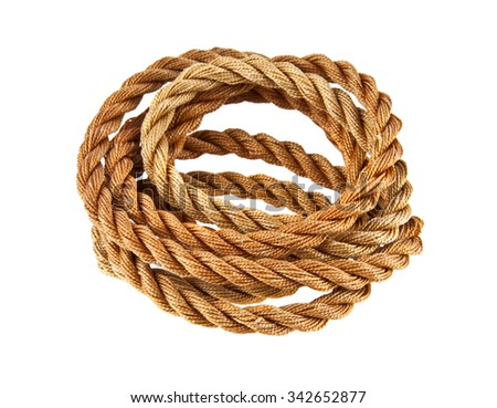 rope is isolated on a white background