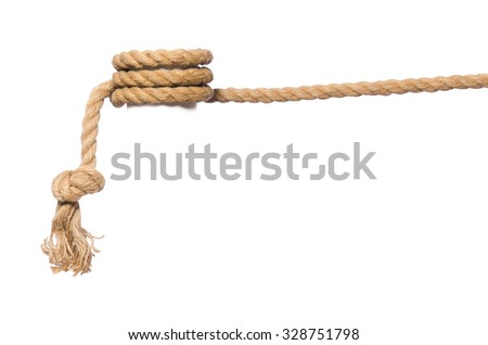 Rope isolated on the white background - stock photo