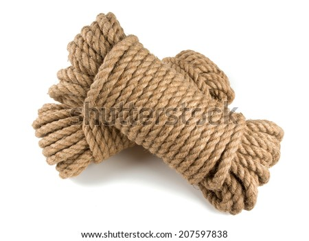 rope isolated on white - stock photo
