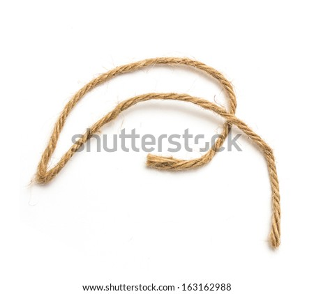 Rope loop isolated on white background