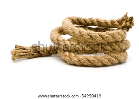 rope on a white background for your illustrations - stock photo