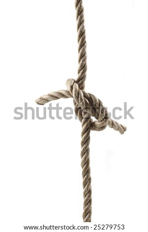 Rope tied in a knot