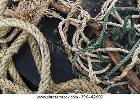 rope unmethodical Background - stock photo