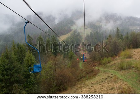 Rope-way In The Mountains
