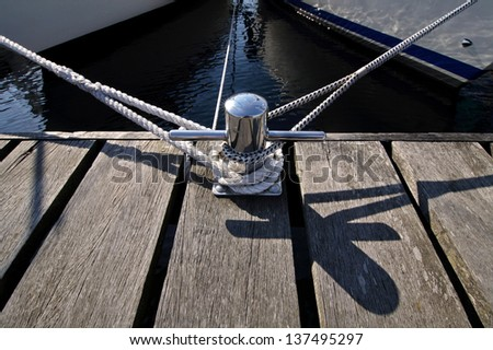 Ropes on a dock