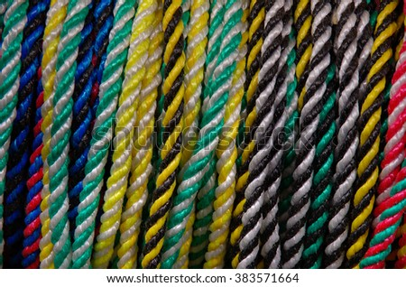 ROPES - Samples of colorful ropes.