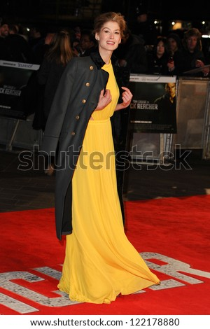 "Rosamund Pike arrives for the ""Jack Reacher"" premiere at the Odeon Leicester Square, London. 10/12/2012 Picture by: Steve Vas"