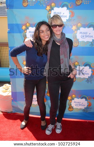 Rosario Dawson and Leslie Bibb at the Make-A-Wish Foundation's Day of Fun Hosted by Kevin & Steffiana James, Santa Monica Pier, Santa Monica, CA. 03-14-10