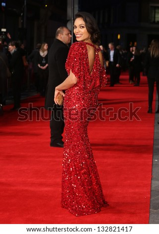 Rosario Dawson arriving for the 'Tance' UK Premiere, Odeon Leicester Square, London.  19/03/2013 Picture by: Henry Harris
