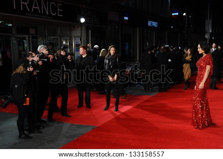 Rosario Dawson arriving for the 'Tance' UK Premiere, Odeon Leicester Square, London.  19/03/2013 Picture by: Steve Vas