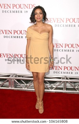 Rosario Dawson   at the Los Angeles Premiere of 'Seven Pounds'. Mann Village Theatre, Westwood, CA. 12-16-08
