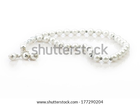 Rosary Isolated on white background - stock photo